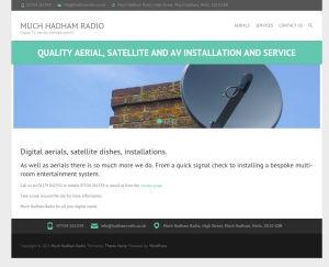 Screenshot of Much Hadham Radio website