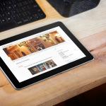 website on Tablet